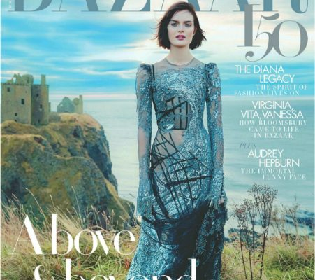Harper's Bazaar Featuring House Of Charles' Lacy Lady Hat In March 2017